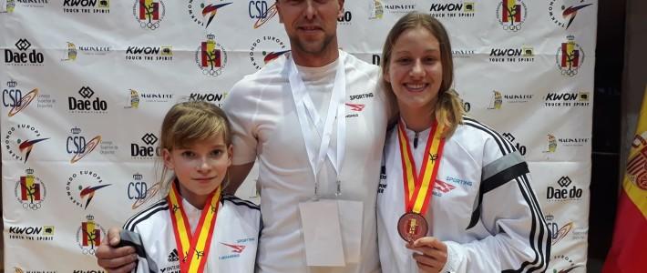 SPAIN OPEN – Silber und Bronze in Vila-Real – SPORTING Taekwondo-Mädels schlagen wieder zu