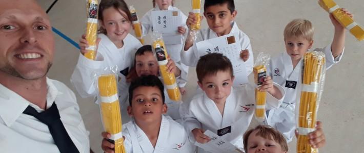 Nachwuchs von SPORTING Taekwondo erreicht den nächsten Gürtel
